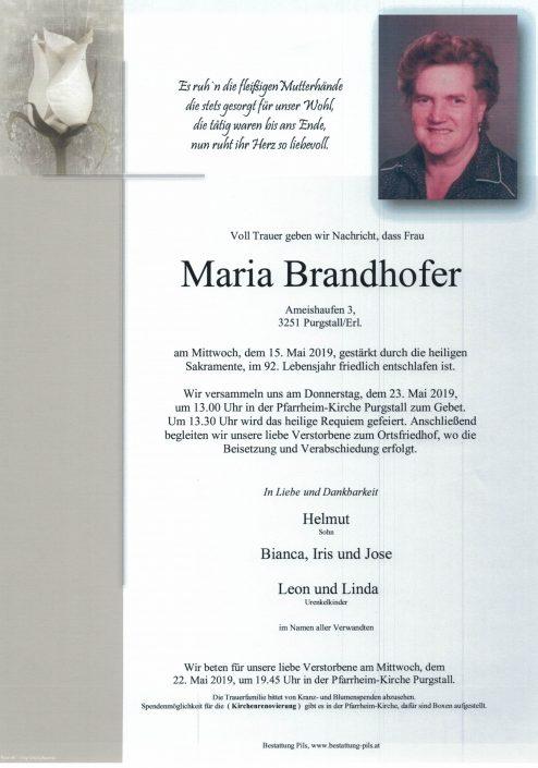 Maria Brandhofer